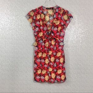 The Fifth Label Dresses - The Fifth Label Unite Coral Red Floral Print Dress